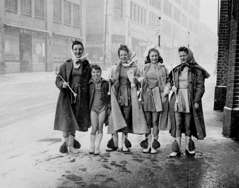 1959 Majorettes St. Patrick's Day, Cleveland Press Collection