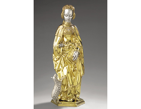 Reliquary Statuette of Saint Agnes