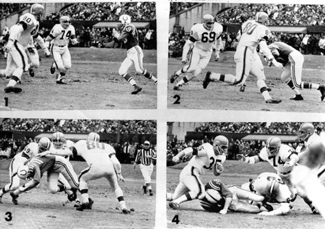 Unitas Stuffed, Cleveland Browns host Baltimore Colts, NFL Championship Game, 1964