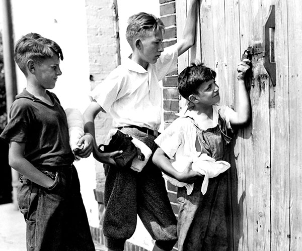 1936: Boys Locked Out of the Pool