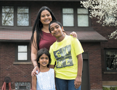 Devi Jhaveri and Family