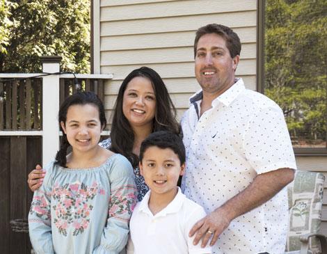 Geoff Boecker, Josie Juan and family