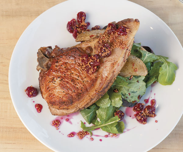 Seared Pork Chops with Cherry Mostarda