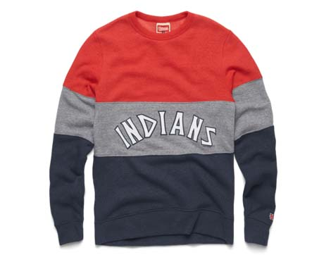 HOMAGE Indians Arch Stripe Crewneck
