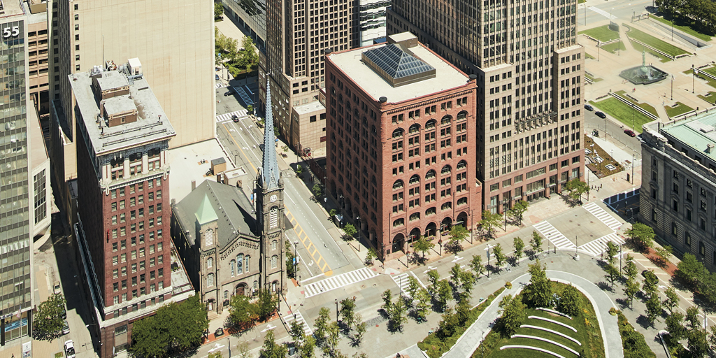 75 Public Square and base of Key Tower