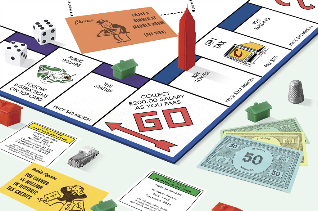 Cleveland Monopoly Board