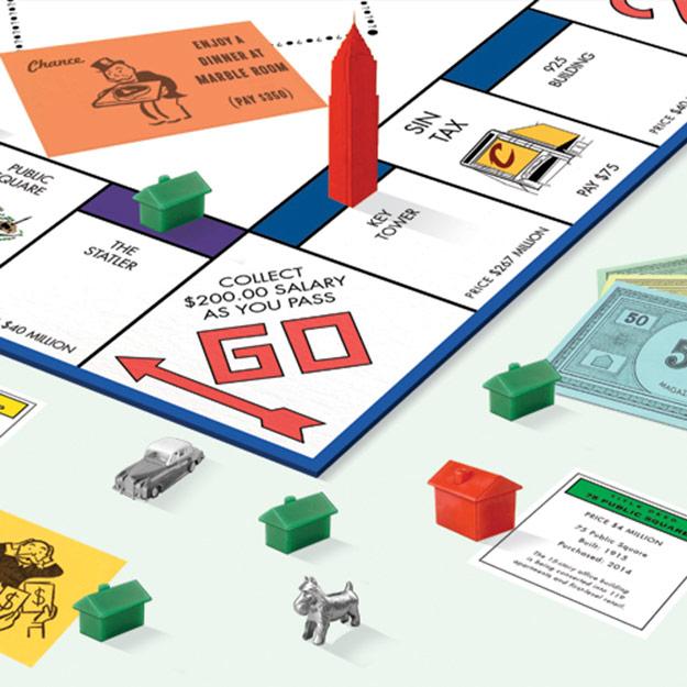 Sinitos Downtown Monopoly Illustration