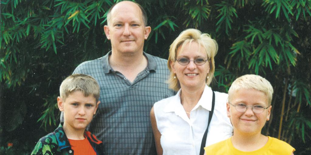 The Jaworski family visiting Disney World in 2000