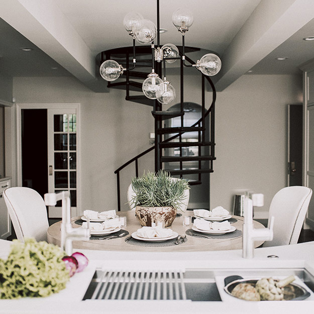 Transitional Style Dining Room ...