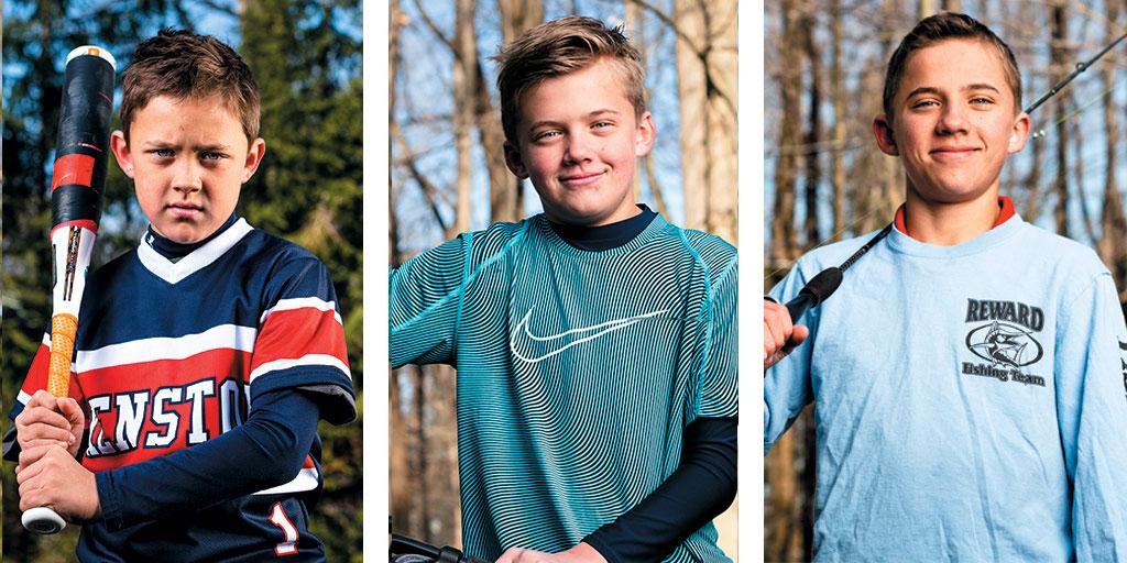 Jack, Nate and Luke Schaedler