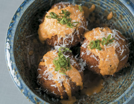 Xinji Noodle Bar kimchi balls