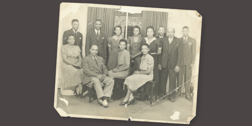 Lessie Brown and her siblings