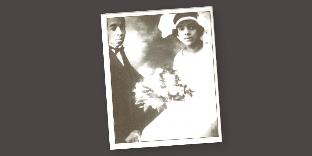 Lessie on her wedding day