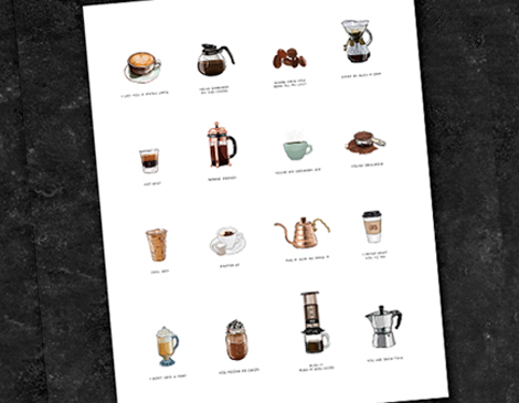Boundary & Thorn's Coffee Punnie Print