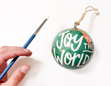 Hand Lettered Old Shit's Joy to the World ornament