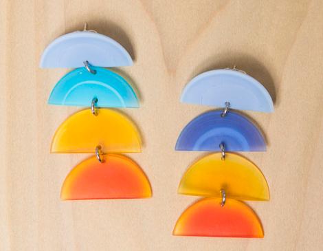 Pattern Play Glass's Cascadia Earrings