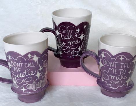 Tiny Cloud Ceramics' Phrase Mugs