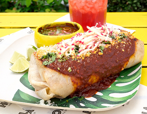 Hola Tacos Knife and Fork Burrito