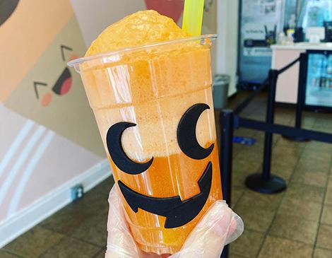 Ice Cream Joy Jack O' Lantern Float
