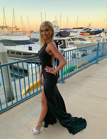 Rachel Vadaj is excited to wear this black gown again when formal events return.