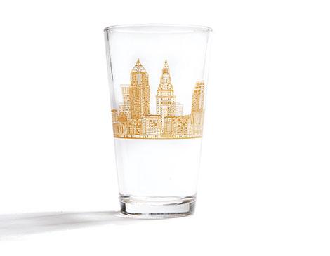 Cleveland Skyline Pint Glass