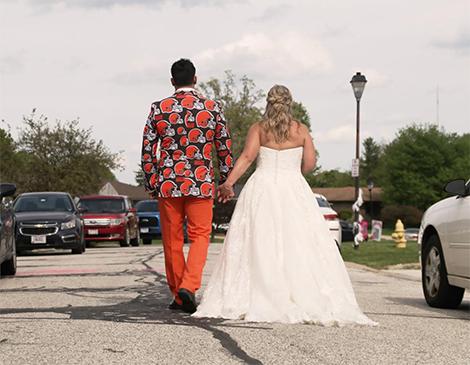 Joseph and Sarah Aude wedding day photos