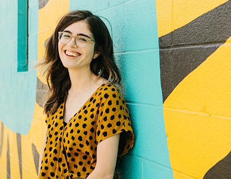 Megan Megan Kuhar wearing animal print