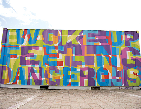 Dangerous Mural by Jason Tetlak