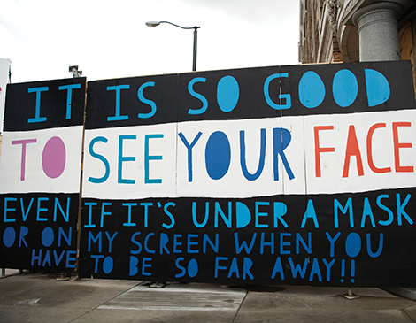 It is so good to see your face Mural by Erin Guido