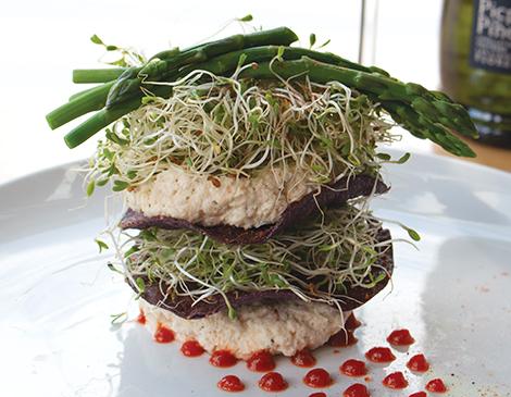 Layered Asparagus & Crab Salad