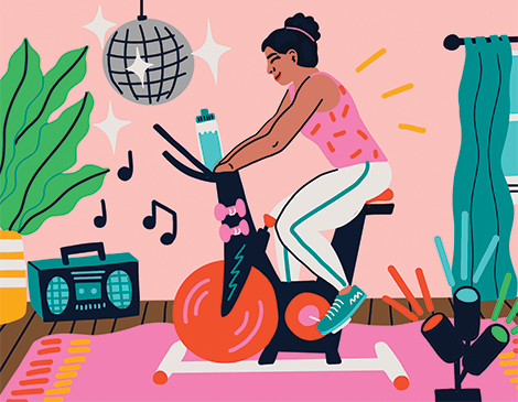 At-home Spin Class