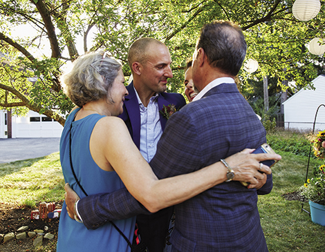 The local artist and husband John Paul Costello hosted friends to a fun, vibrant and meaninful ceremony and party.