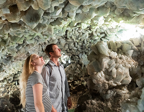Crystal cave tour at Heineman's Winery