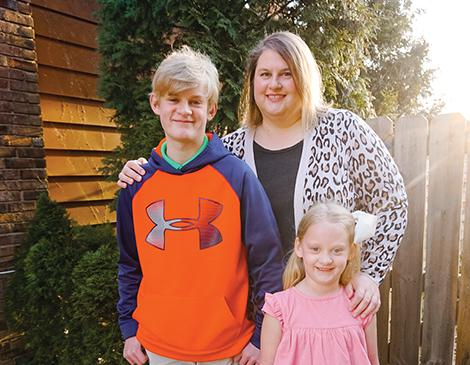 Karen Horn and her children