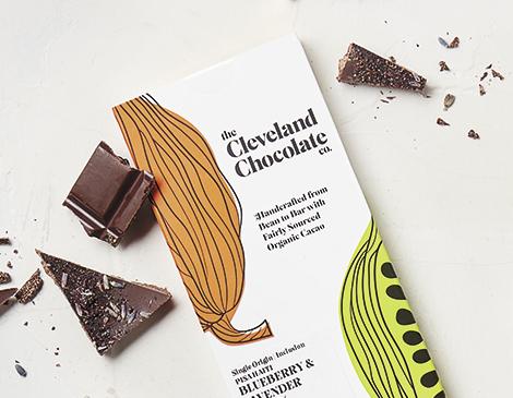 Cleveland Chocolate Co._Blueberry Lavender Dark Chocolate Bar_Homemade_local_chocolate