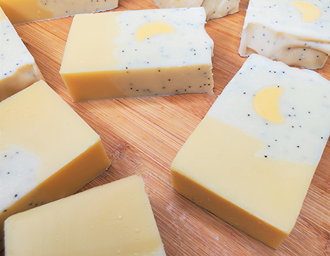 Kali's Creations_Lemon Poppy Seed Bar Soap_Cleveland Ohio_Handmade Soap_Body Essentials