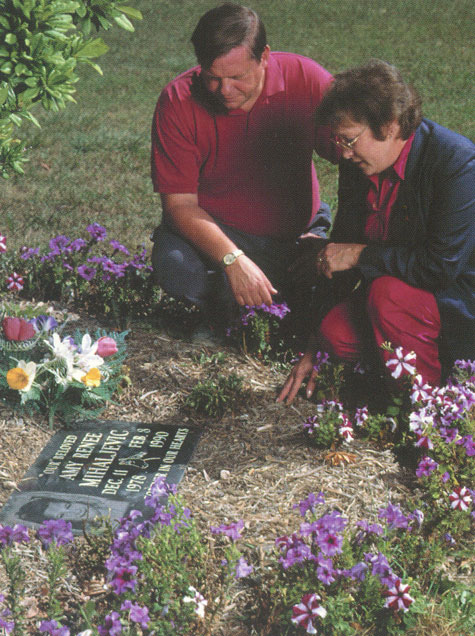 Amy's Parents, Mark Mihaljevic and Margaret McNulty, at the memorial located outside Bay Village City Hall, directly across the street from the site of her abduction.