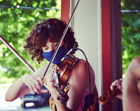 Ariel Clayton, violinist and director of Opus 216