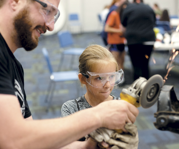 Brian Schaffran is empowering students with power tools.