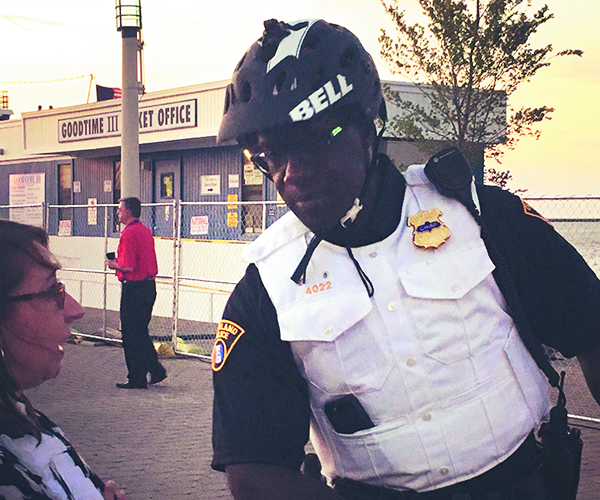 Chief Williams Bike Patrol