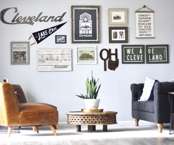 4 Steps To A Cleveland-Themed Gallery Wall