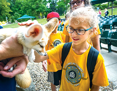 Cleveland Metroparks Zoo's camps give kids close up encounters with animals.