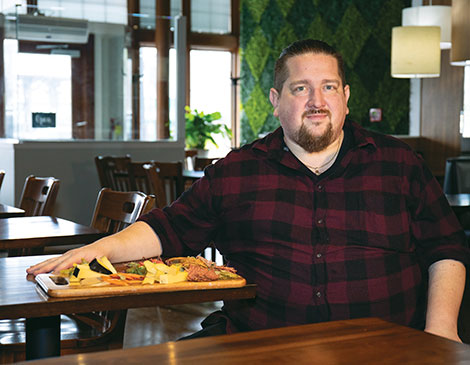 Co-owner and chef James Balchak creates each menu with ingredients on-hand from Oberlin Food Hub and local farms.