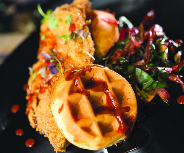Crop Rocks Chicken and Waffles