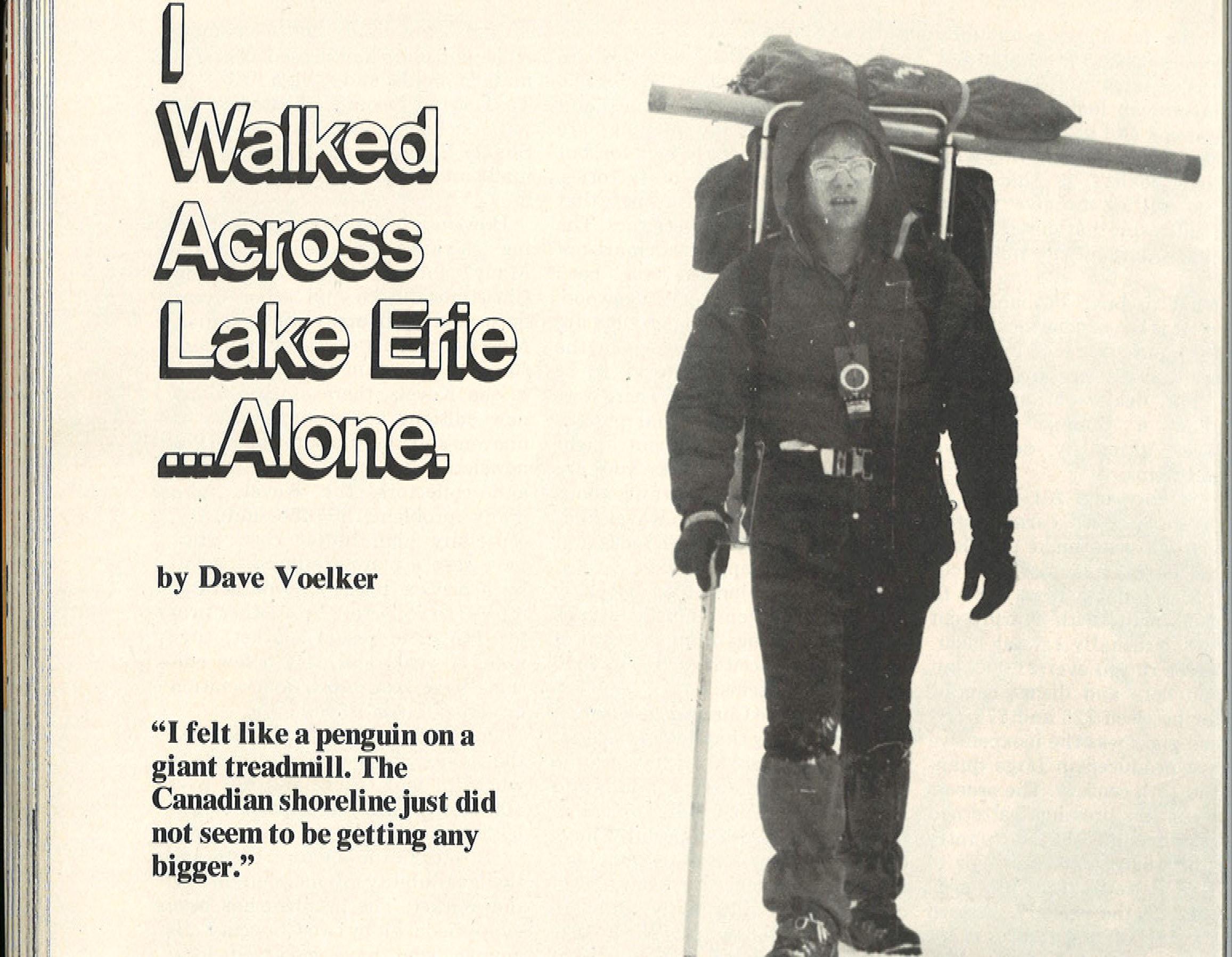 December 1978, Walking Across Lake Erie