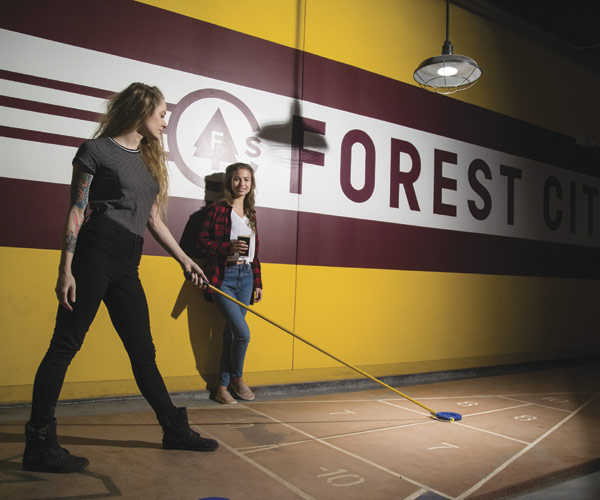 Date Night: Slide Into Forest City Shuffleboard