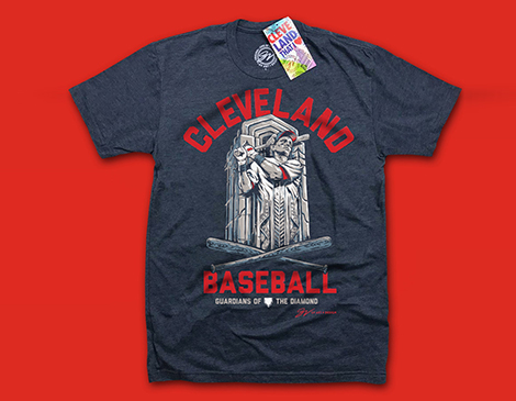 G&V Artwork Baseball Guardian T-Shirt