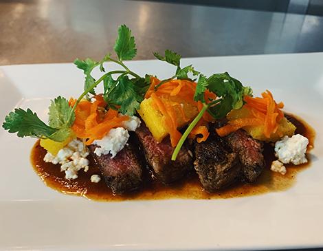 Grilled Lamb Loin, Pompadour