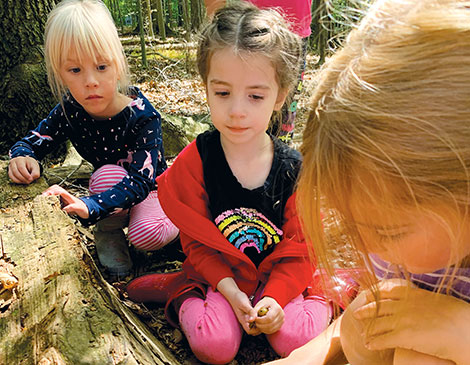 Hathaway Brown's nature-based Tiny Trailblazers camp is geared toward preschool kids.
