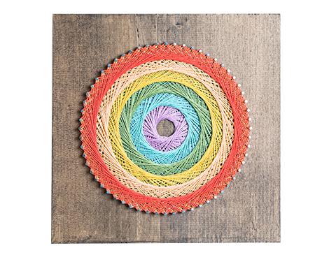 Circle string art